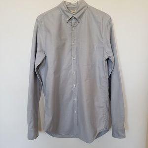 J Crew long sleeve blue dress shirt size M tall